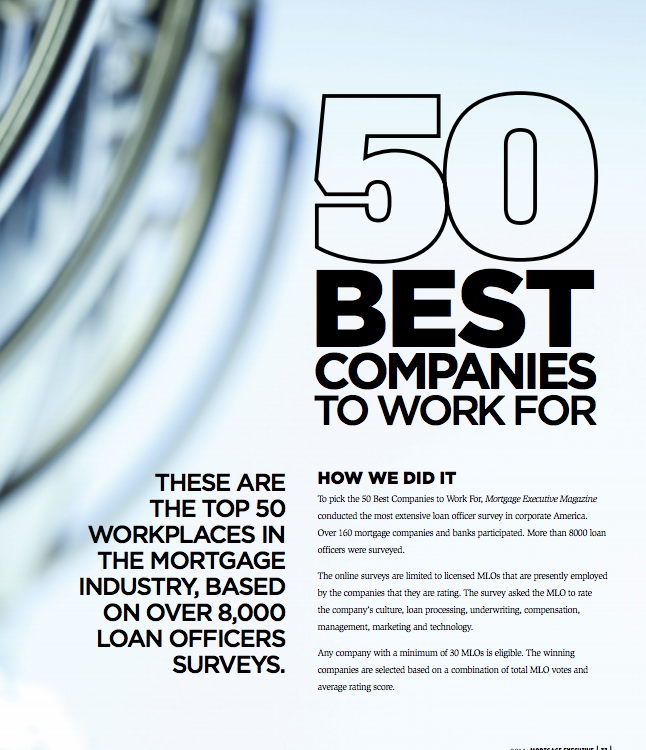 Mortgage Technology's 50 Best Companies To Work For